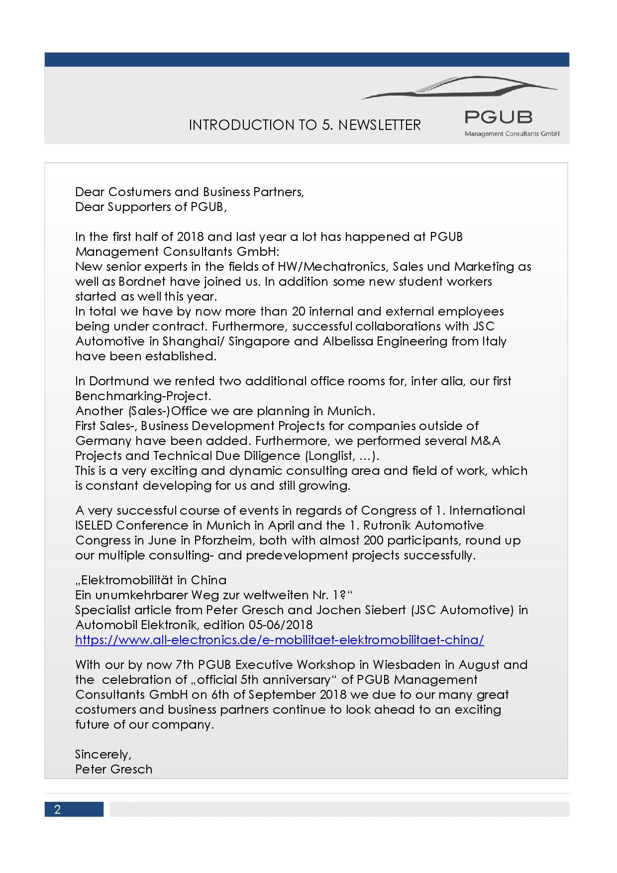 News | PGUB Management Consultants GmbH